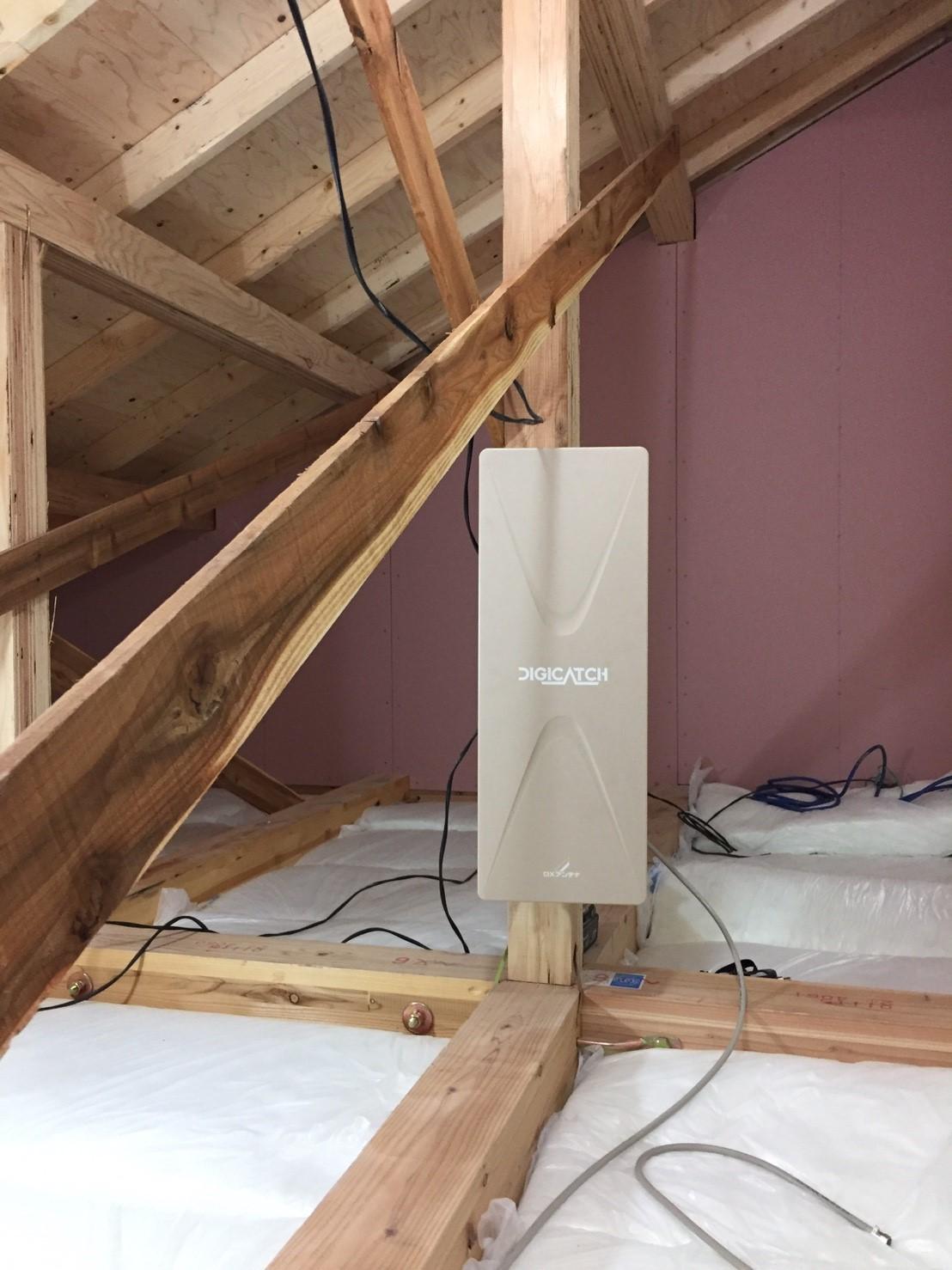 屋根裏設置 デザインアンテナ 地デジ