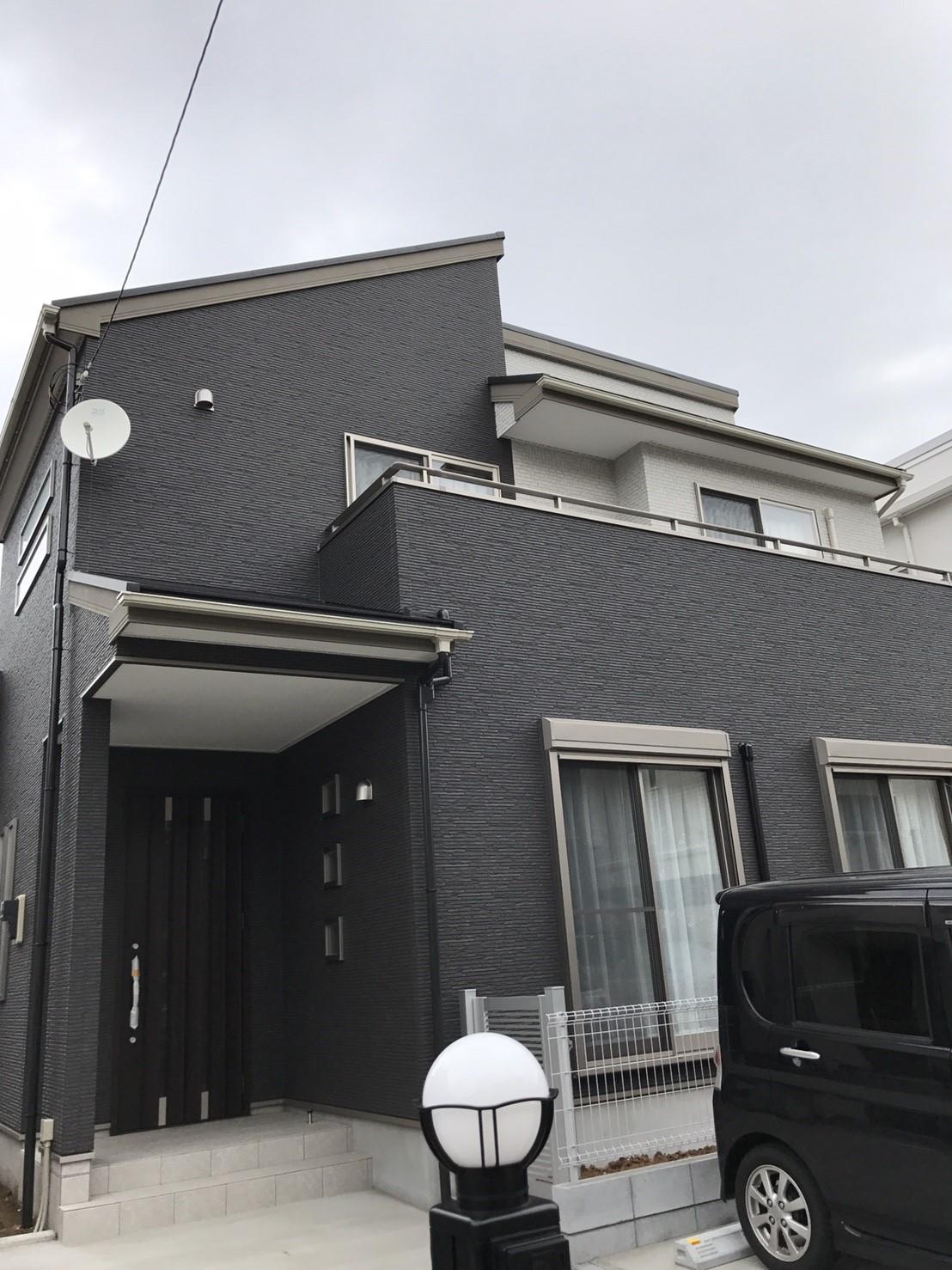 千葉県 千葉市 屋根裏設置 デザインアンテナ BS/CSアンテナ 新築