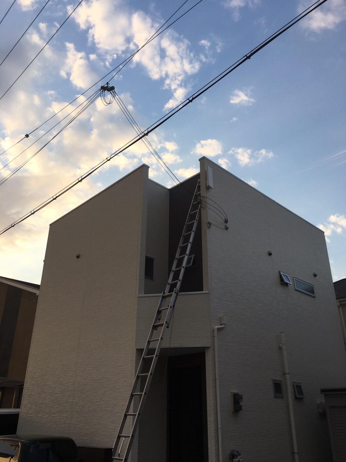 大阪府 堺市 デザインアンテナ アンテナ工事 新築