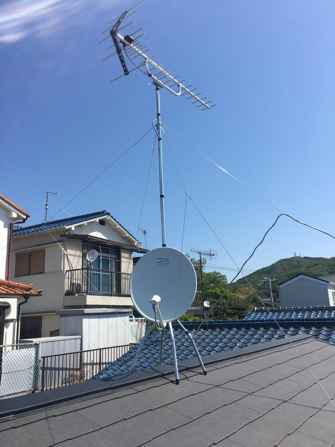 兵庫県 神戸市 新築 八木式アンテナ BS/CSアンテナ