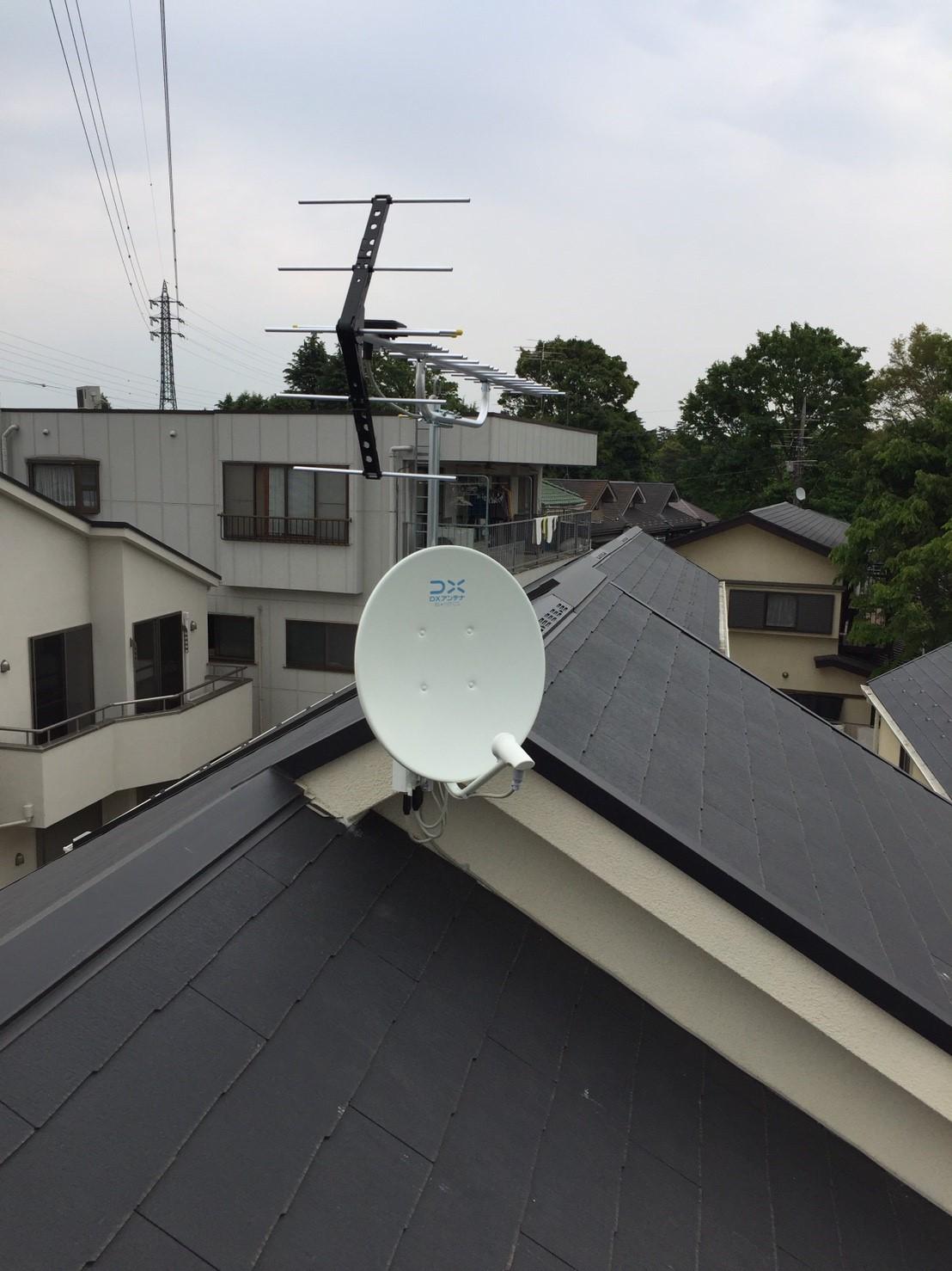 東京都 小金井市 八木式アンテナ BS/CSアンテナ 新築 アンテナ工事