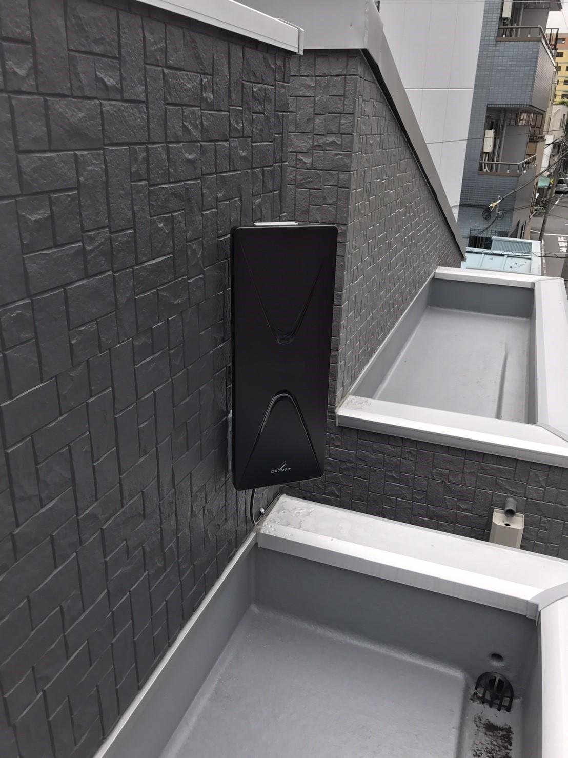 東京都 台東区 デザインアンテナ アンテナ工事 新築