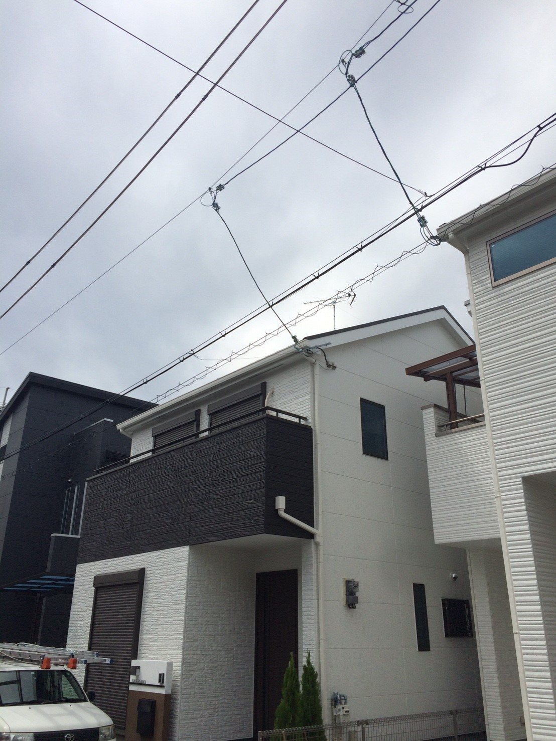 大阪府 茨木市 八木式アンテナ 新築 アンテナ工事