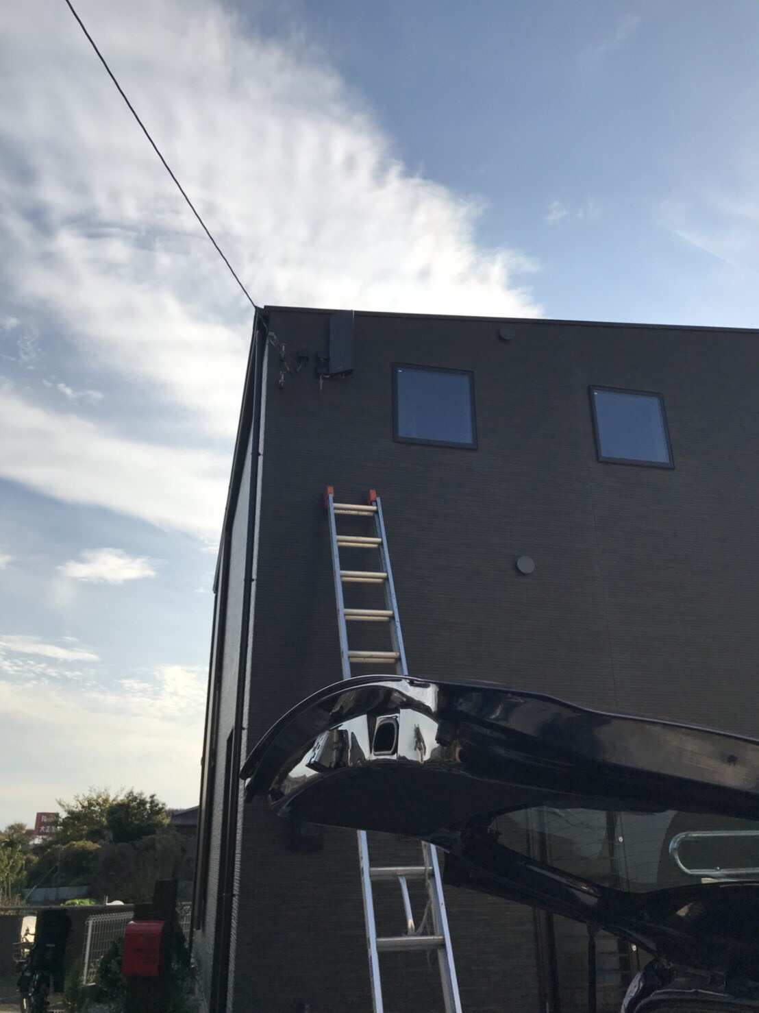 神奈川県 相模原市 新築 デザインアンテナ アンテナ工事 防水