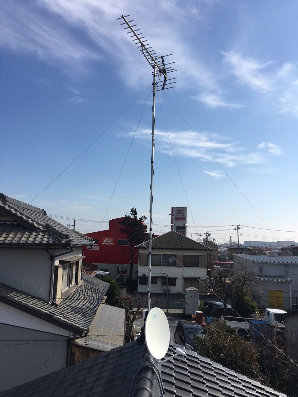 埼玉県羽生市のBS・CSアンテナ工事事例