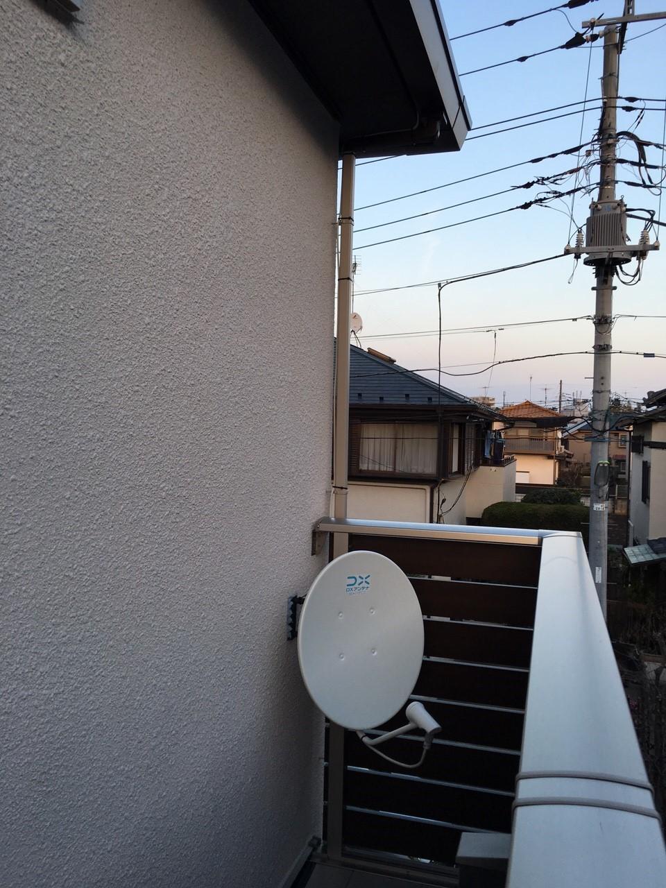 東京都世田谷区のデザインアンテナ、BS・CSアンテナ工事事例