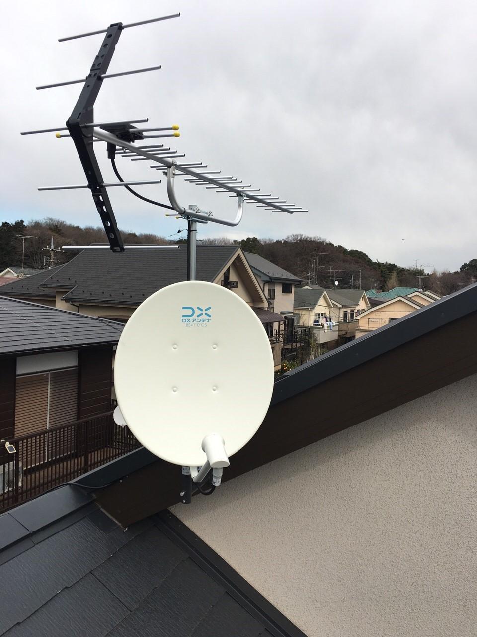 東京都練馬区の八木式アンテナ、BS・CSアンテナ工事事例