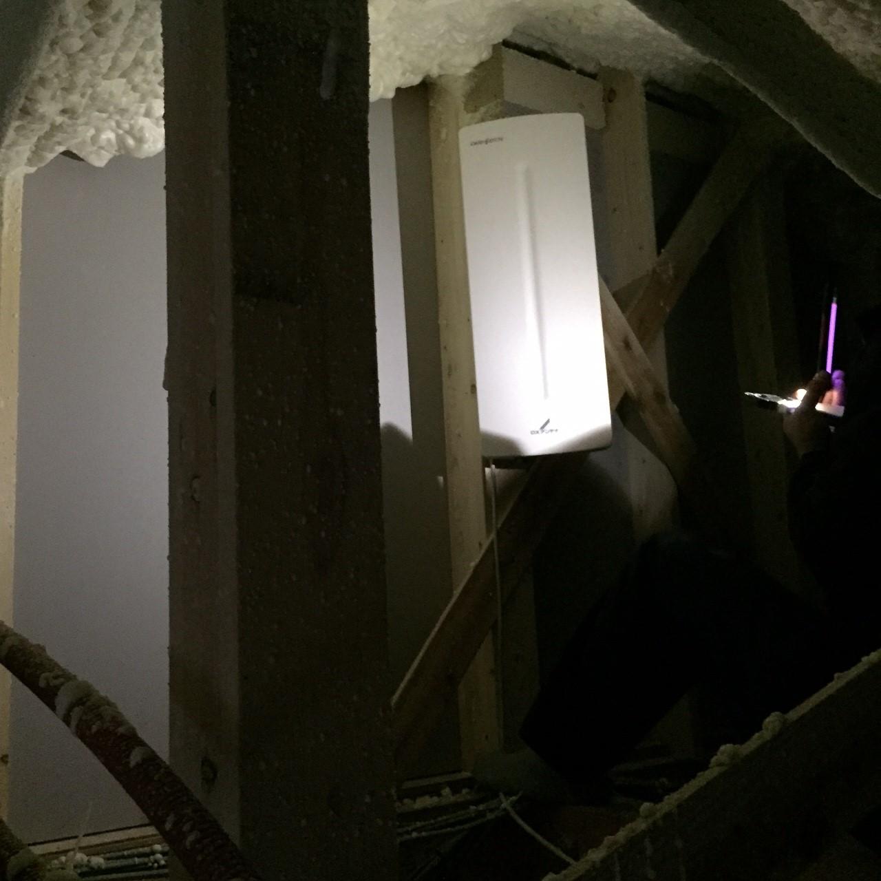 神奈川県大和市の屋根裏設置デザインアンテナ工事事例