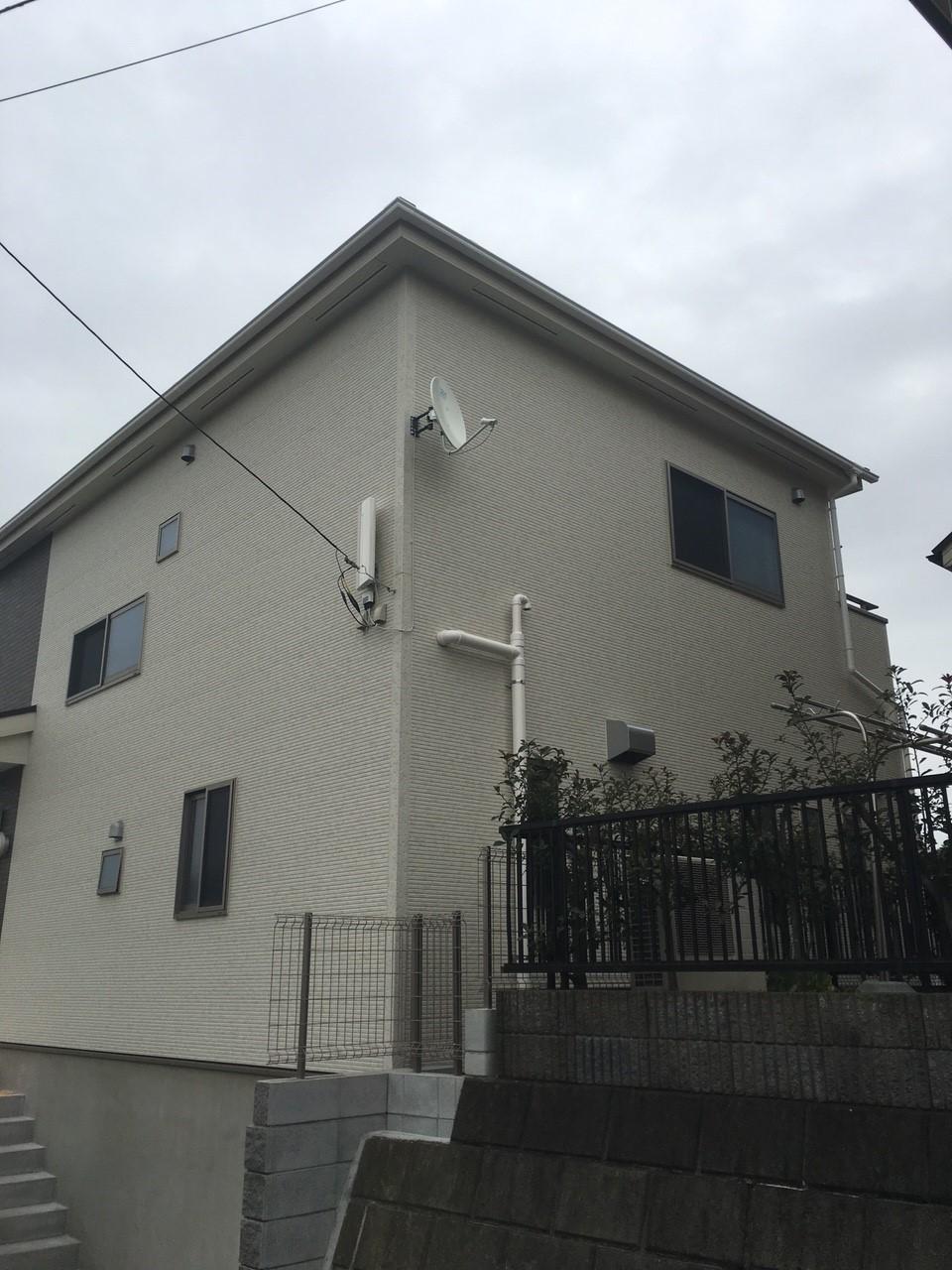 神奈川県横浜市のデザインアンテナ、BS・CSアンテナ工事事例