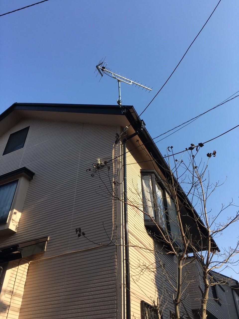 埼玉県富士見市の八木式アンテナ工事事例