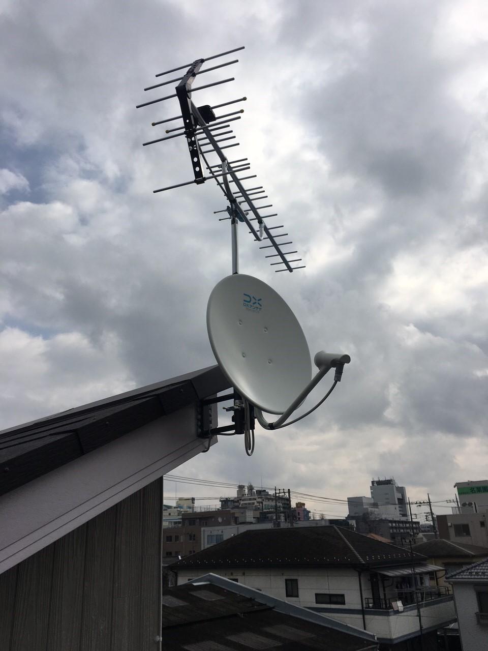 埼玉県飯能市の八木式アンテナ、BS・CSアンテナ工事事例