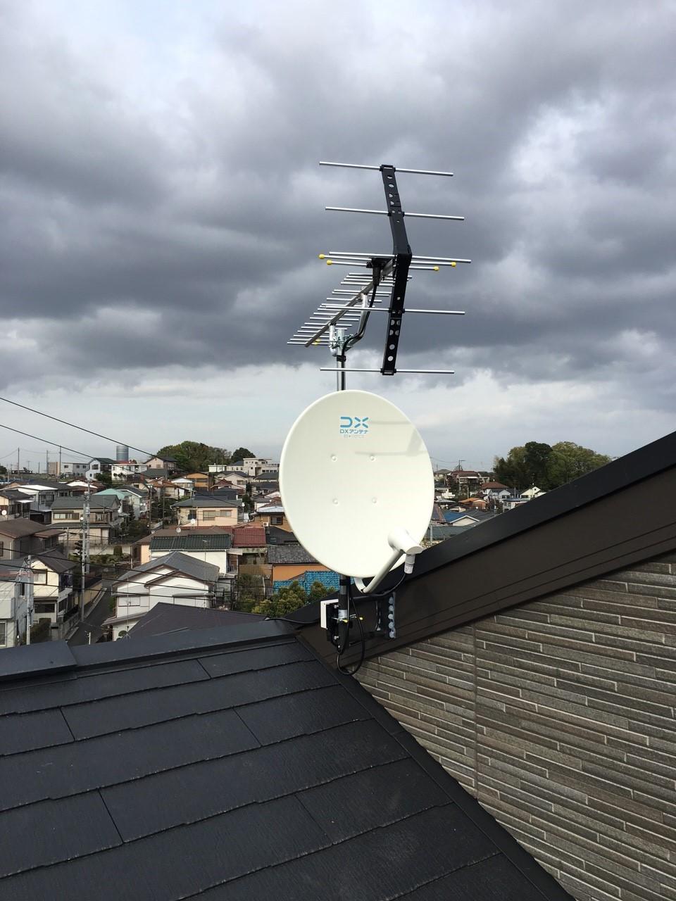 神奈川県横浜市の八木式アンテナ、BS・CSアンテナ工事事例