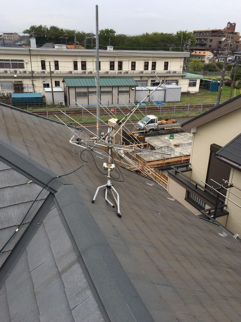 埼玉県所沢市の八木式アンテナ工事事例