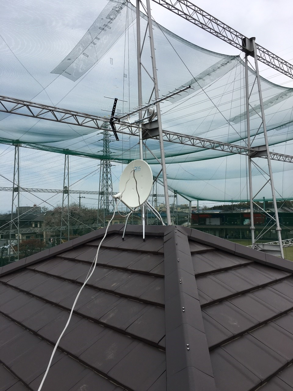 埼玉県北本市の八木式アンテナ、BS・CSアンテナ工事事例