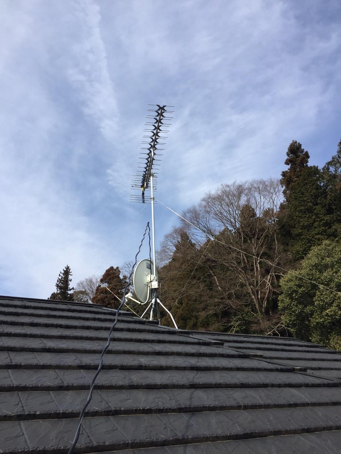 東京都 青梅市 八木式アンテナ BS・110°CSアンテナ アンテナ工事