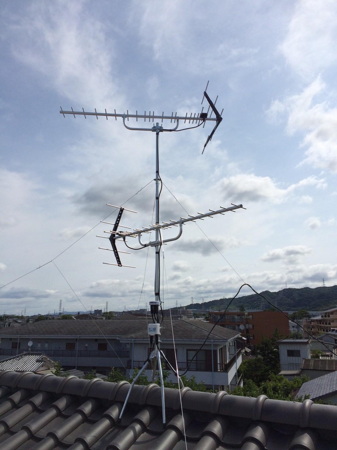 大阪府 交野市 八木式アンテナ アンテナ工事