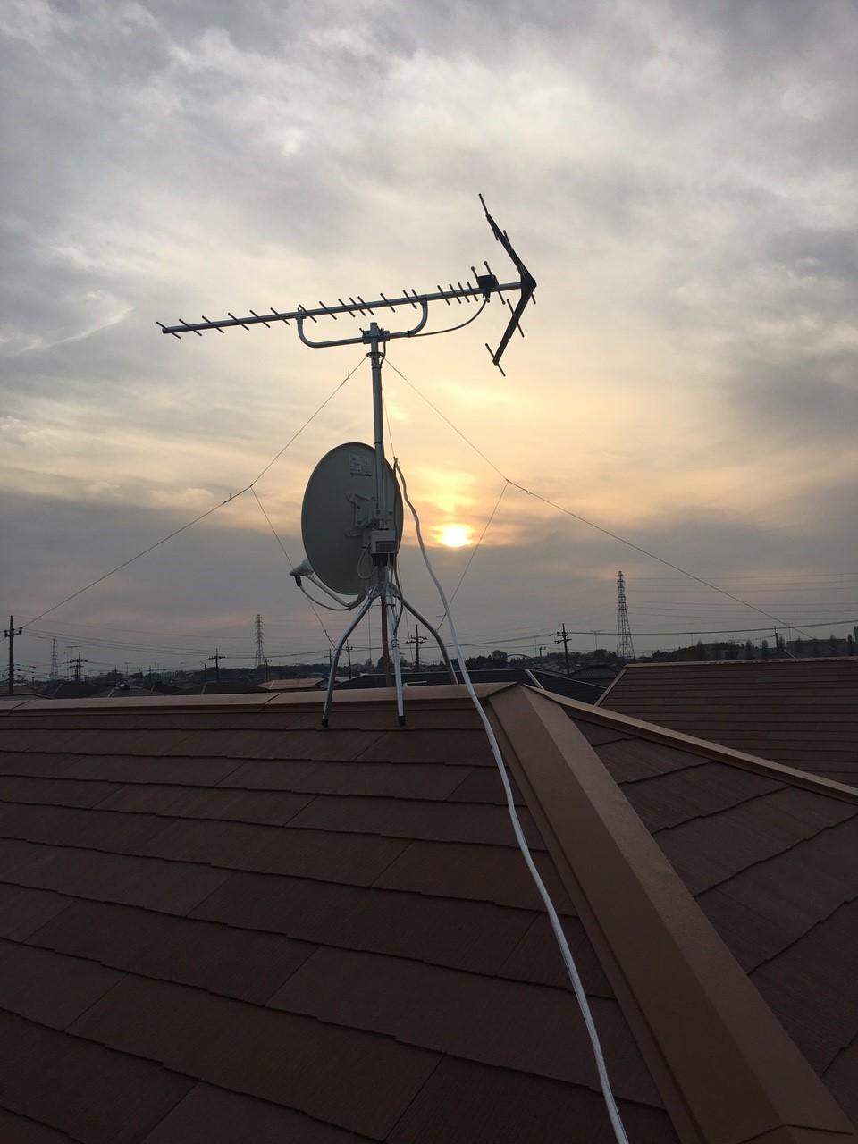 栃木県下都賀郡の八木式アンテナ、BS・CSアンテナ工事事例